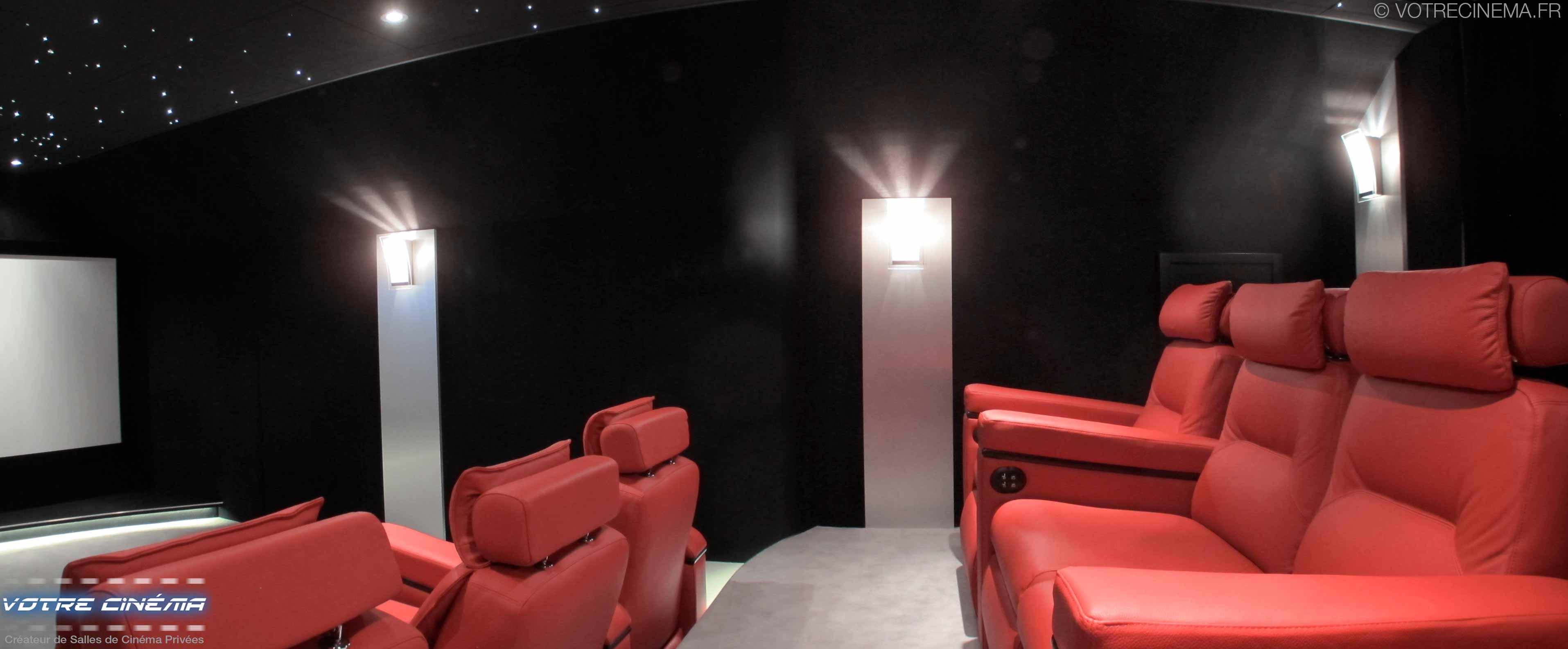 réalisation salle cinéma privée Paris 77