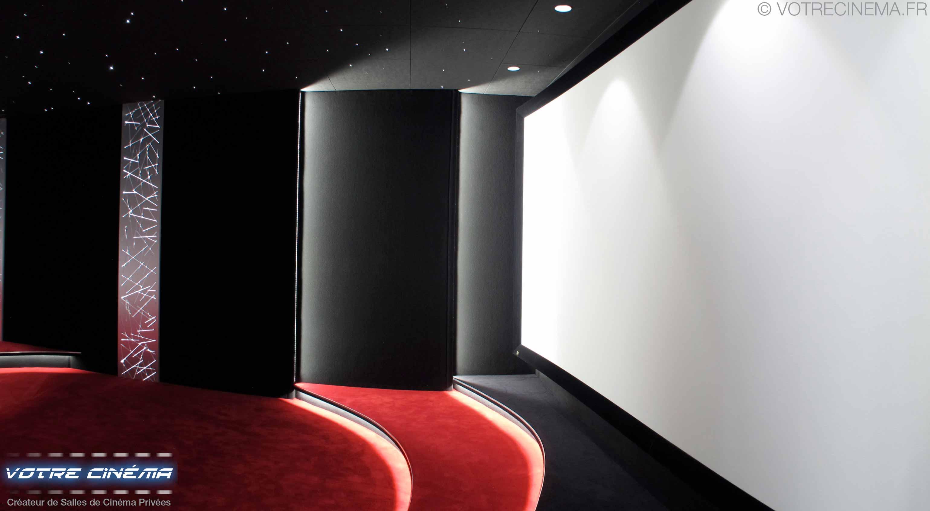 Ecran toile 4K salle cinéma privée Montpellier