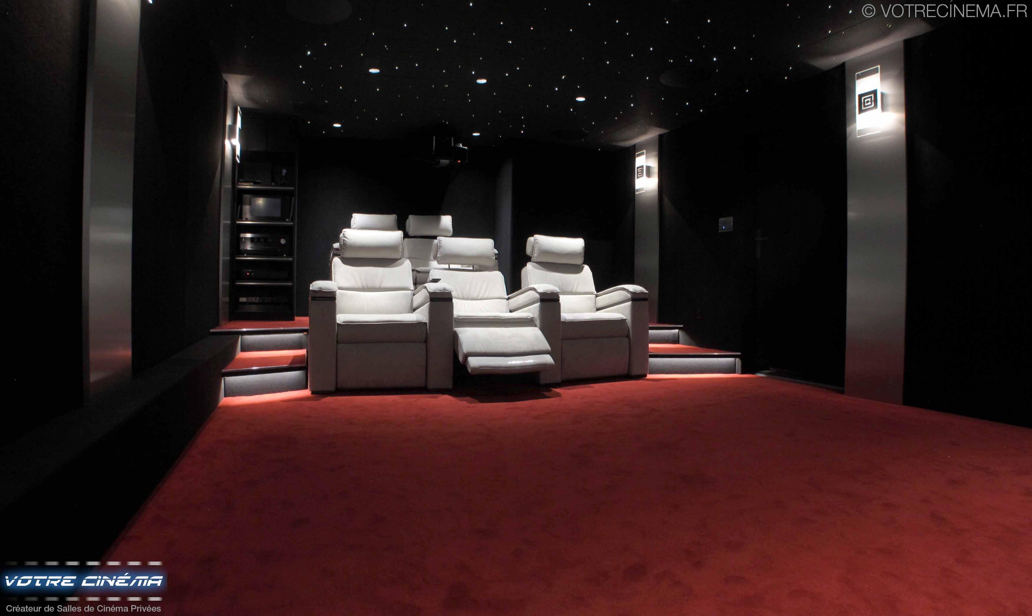 réalisation salle cinéma privée Paris
