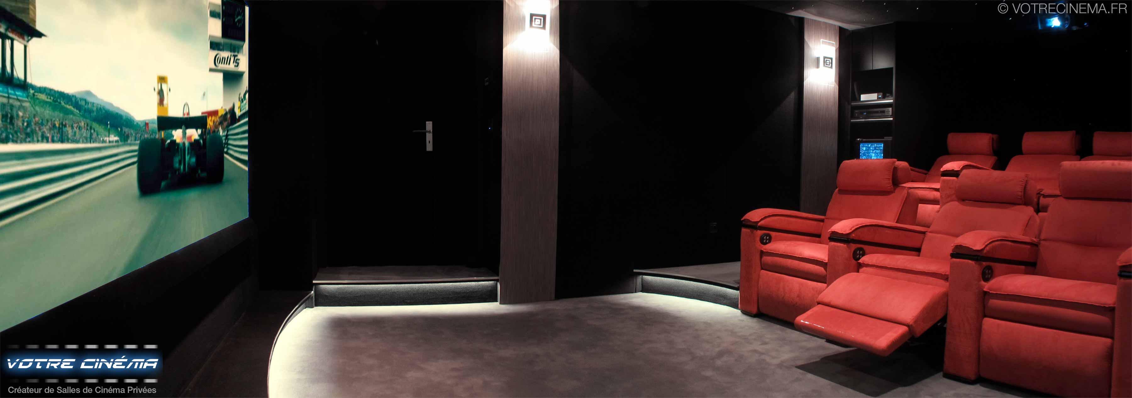 réalisation salle cinéma privée Salon de Provence