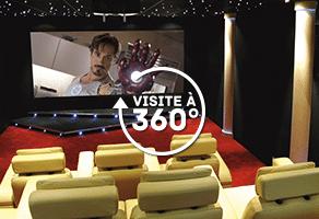 visite virtuelle à 360° home cinéma privé